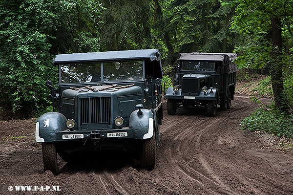 Sd.Kfz-7 and  Horch-Einheits-Pkw  at Overloon   16-05-2015