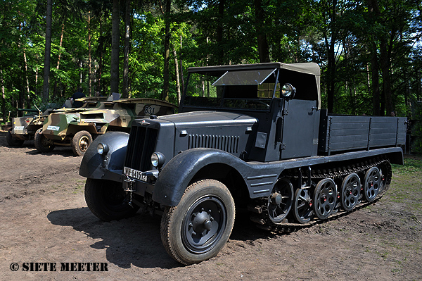 German Hanomag Sd.Kfz. 11 Light Prime  with wooden truck body  Overloon